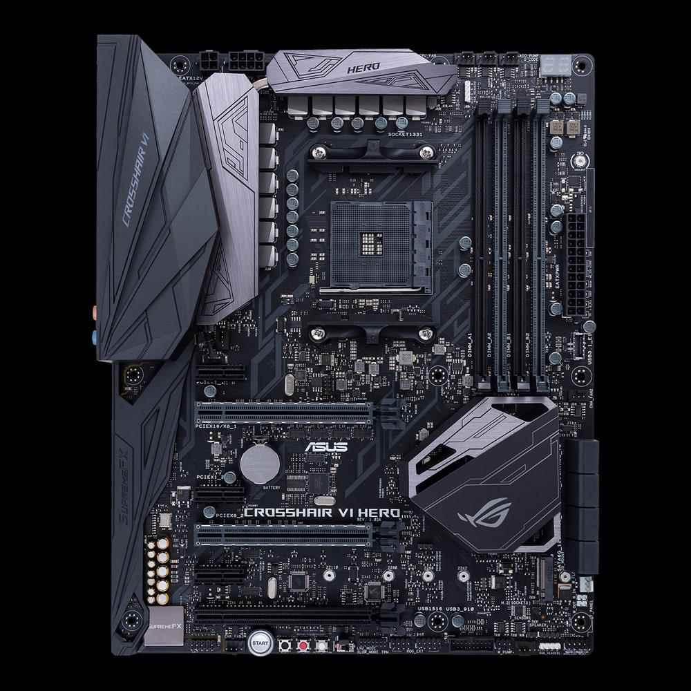 ASUS MB Sc AM4 CROSSHAIR VI HERO (WI-FI AC), AMD X370, 4xDDR4, Wi-Fi (90MB0UT0-M0EAY0)