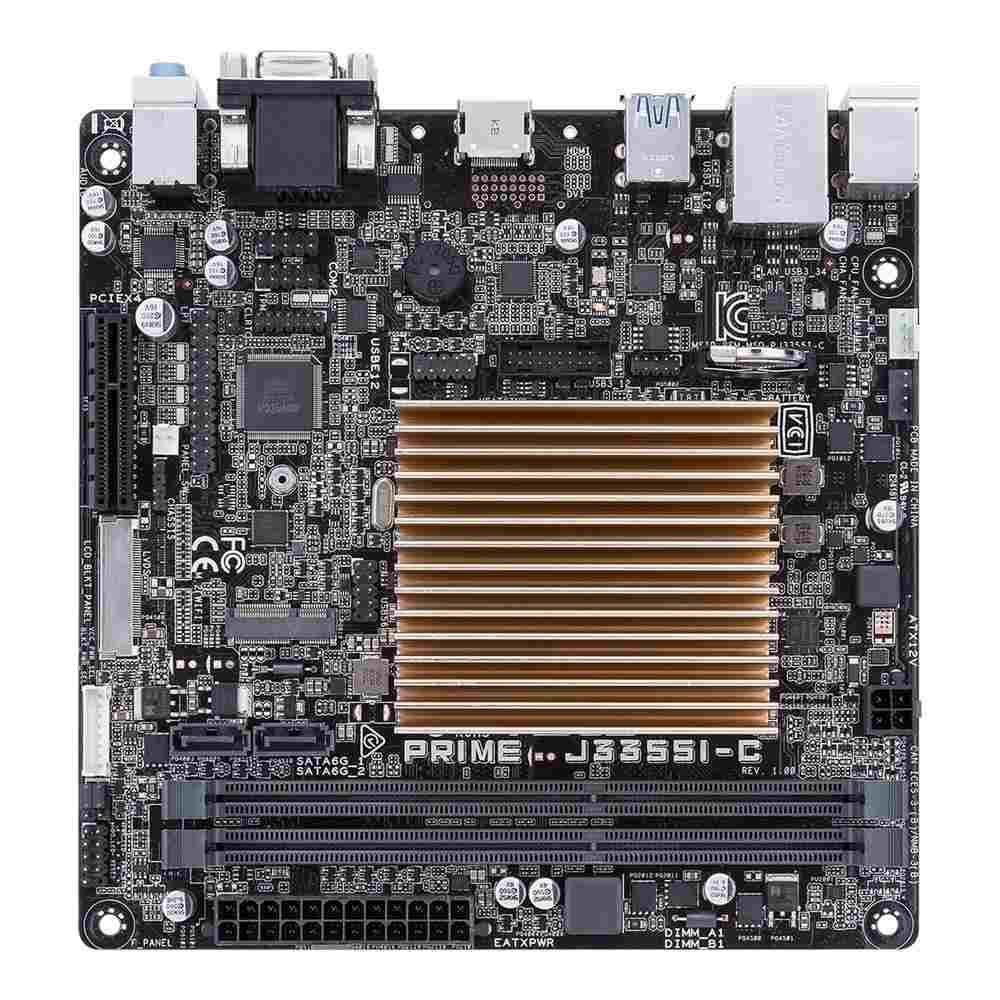 ASUS MB PRIME J3355I-C, Intel® Celeron® Dual-Core J3355, 2x DDR3, VGA, mini-ITX (90MB0UP0-M0EAY0)