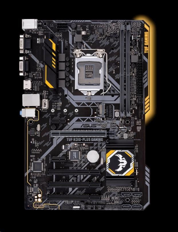 ASUS MB Sc LGA1151 TUF H310-PLUS GAMING, Intel H310, 2xDDR4, VGA