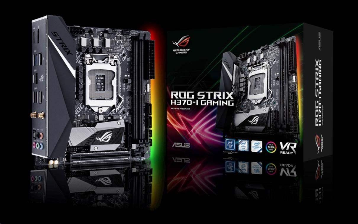 ASUS MB Sc LGA1151 ROG STRIX H370-I GAMING, Intel H370, 2xDDR4, VGA, WIFI, mini-ITX