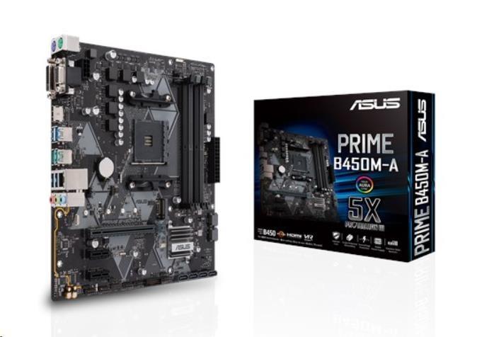 ASUS MB Sc AM4 PRIME B450M-A/CSM (SW + PUR RMA), AMD B450, 4xDDR4, VGA, mATX 90MB0YR0-M0EAYC