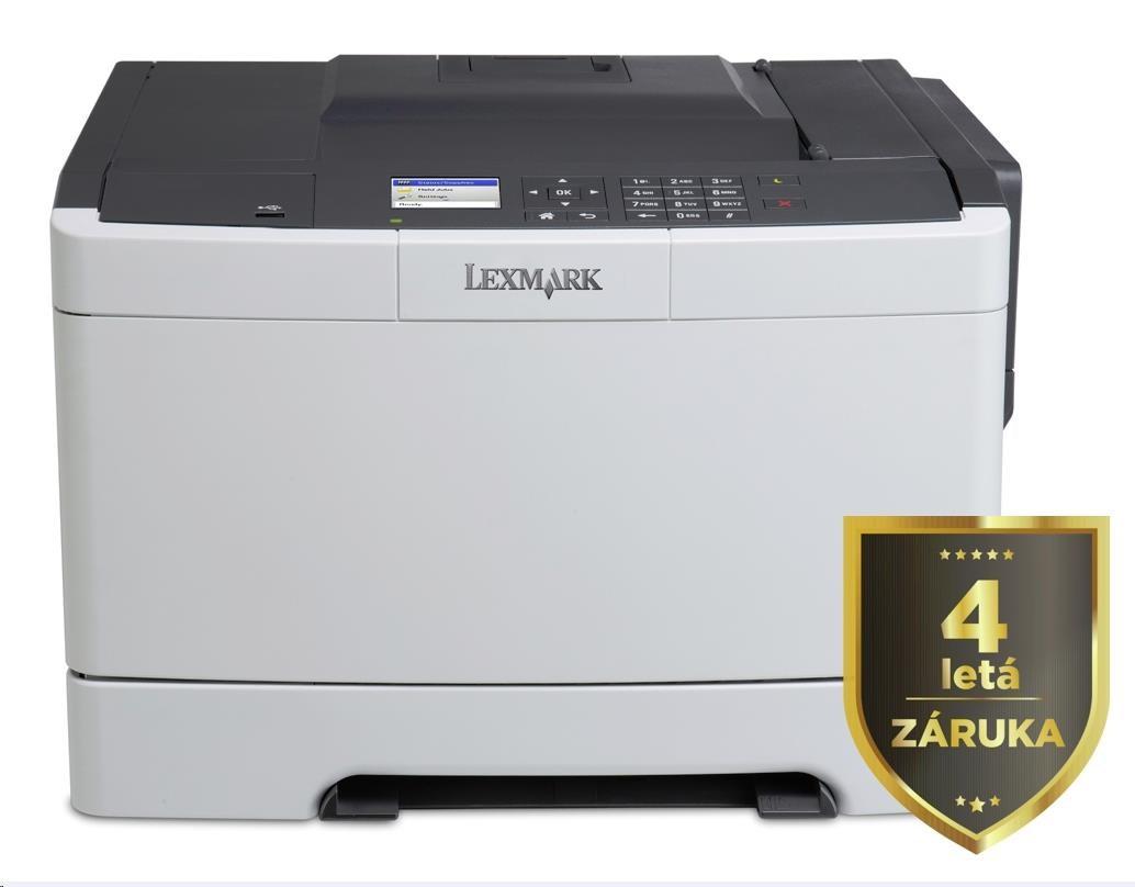 LEXMARK barevná tiskárna CS417dn, A4, 30ppm,256MB, barevný LCD displej, duplex, USB 2.0, LAN, 4letá záruka! (28DC070)