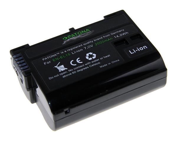 Fotobaterie Patona pro Nikon EN-EL15 2000mAh Li-Ion Premium (PT1224)