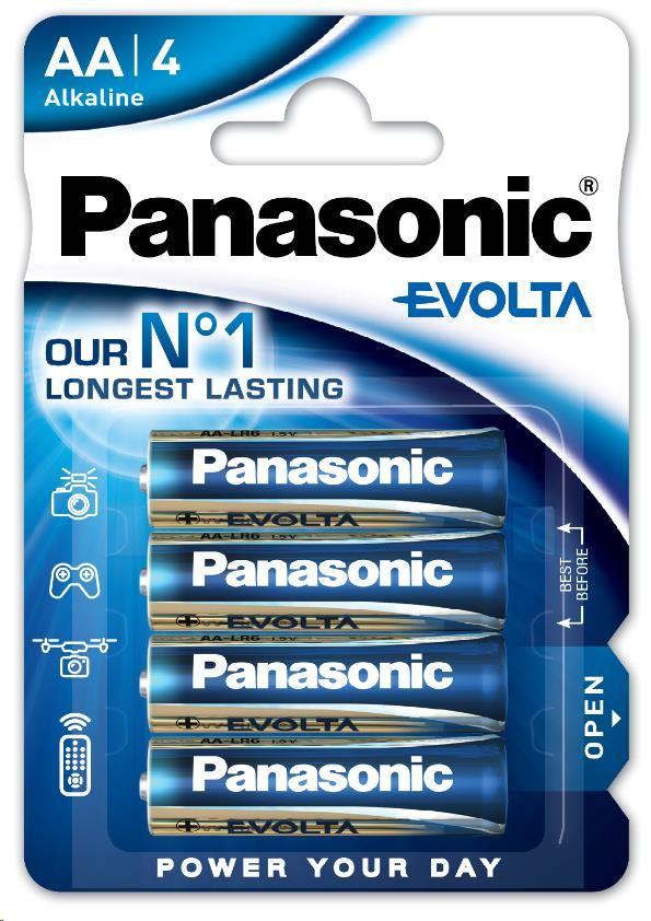PANASONIC Alkalické baterie - EVOLTA Platinum AA 1.5V balení - 4ks (00236499)