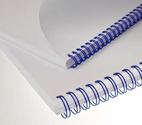 """Kovové hřbety (3/1"""") 14,3 modré (lamrm34dr14b50)"""
