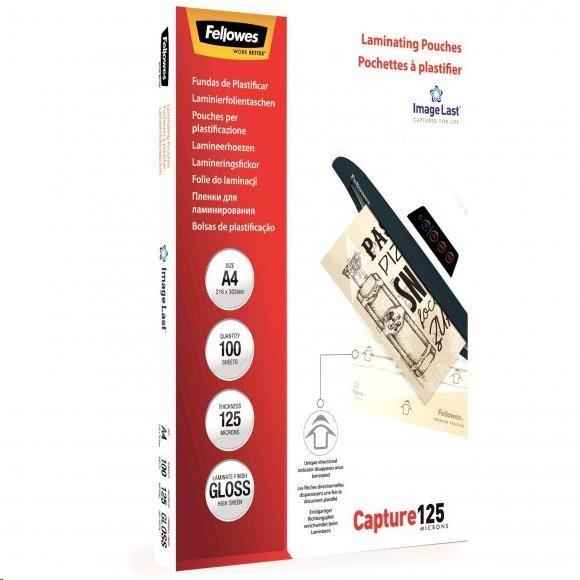 Laminovací fólie Fellowes A4 125 mic ImageLast, balení 100 ks (lampofela4125)