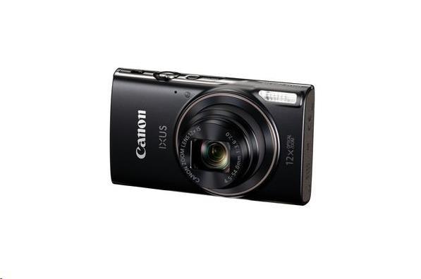 Canon IXUS 285 HS, 20MPix, 12x zoom, Wi-Fi, NFC - černý (1076C001AA)
