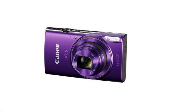 Canon IXUS 285 HS, 20MPix, 12x zoom, Wi-Fi, NFC - fialový (1082C001AA)