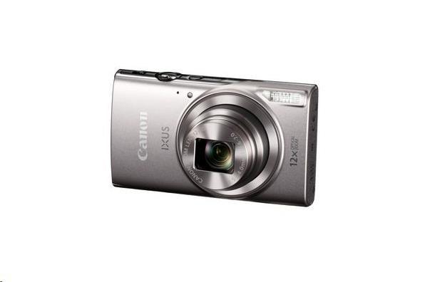Canon IXUS 285 HS, 20MPix, 12x zoom, Wi-Fi, NFC - stříbrný (1079C001AA)