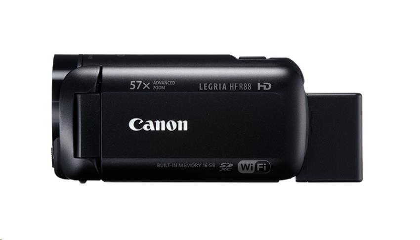 Canon Legria HF R88 kamera, Full HD, 57x zoom, WiFi - černá (1959C012AA)