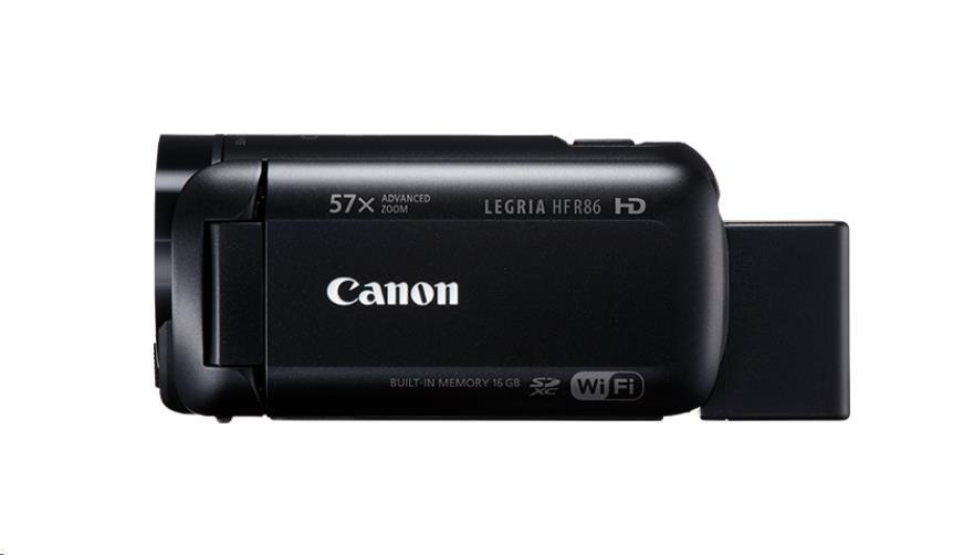 Canon Legria HF R86 kamera, Full HD, 57x zoom, WiFi - černá (1959C014AA)