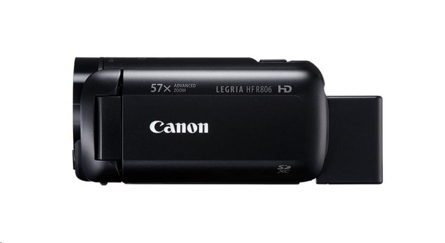 Canon Legria HF R806 kamera, Full HD, 57x zoom - černá (1960C012AA)
