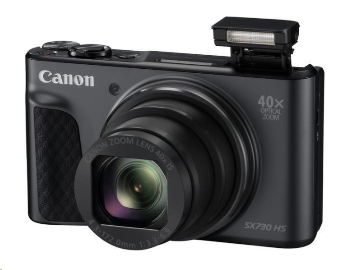 Canon PowerShot SX730 HS, 20.3Mpix, 40x zoom - černý - Travel kit (1791C016AA)