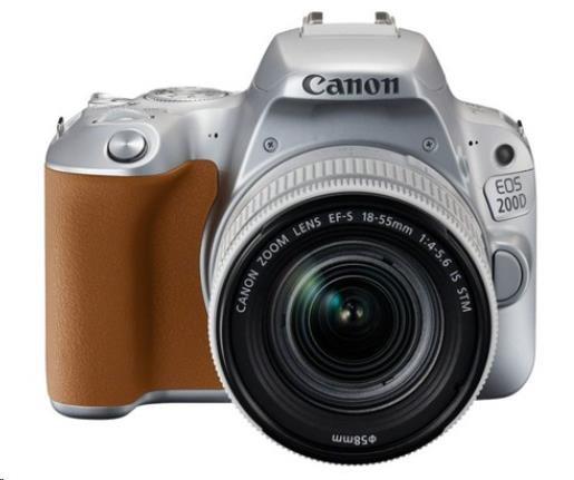 Canon EOS 200D zrcadlovka - tělo (stříbrné) + 18-55 IS STM (2256C001AA)