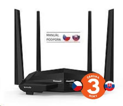 Tenda AC10 Wireless AC1200 Dual Band Router, 1x gigabit WAN, 3x gigabit LAN