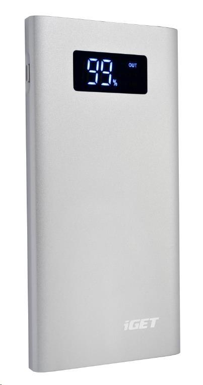 iGET POWER B-7000S Power banka 7000 mAh stříbrná