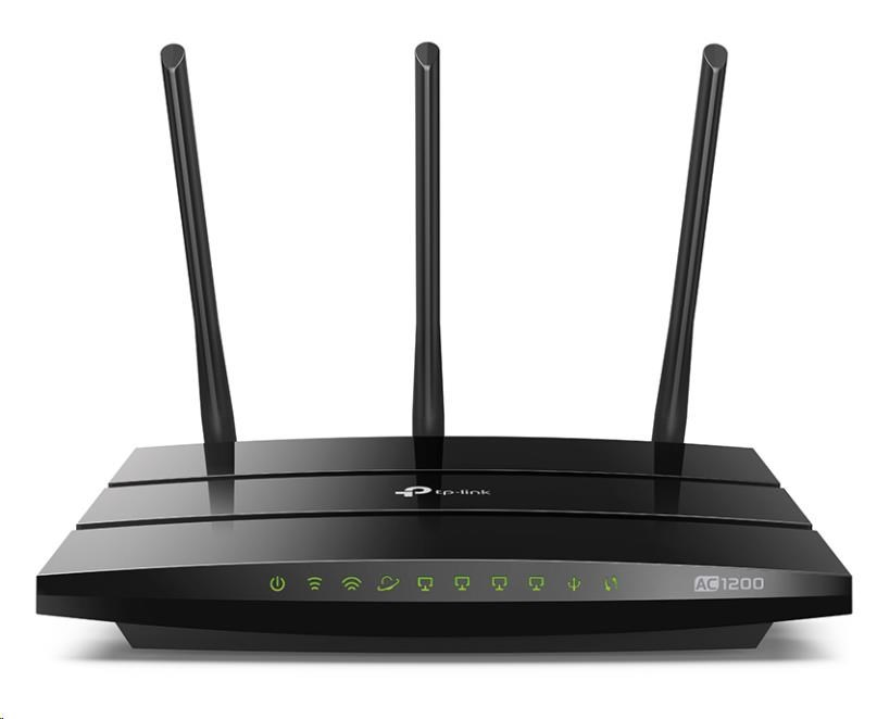 TP-Link Archer C1200 WiFi DualBand Gbit Router, 802.11ac/a/b/g/n, 4xGbit LAN, USB 2.0, AC1200