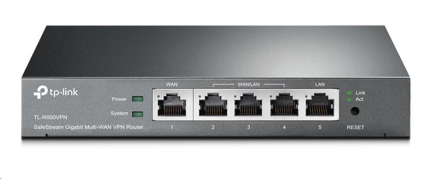 TP-Link TL-R600VPN SafeStream VPN 1x Gigabit WAN, 4x Gigabit LAN Router