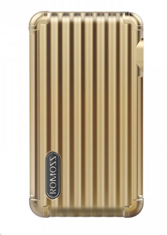 ROMOSS UP10 Gold EU Plug Power Bank Capacity:10000mAh (Cell: Li-polymer) (6951758344493)