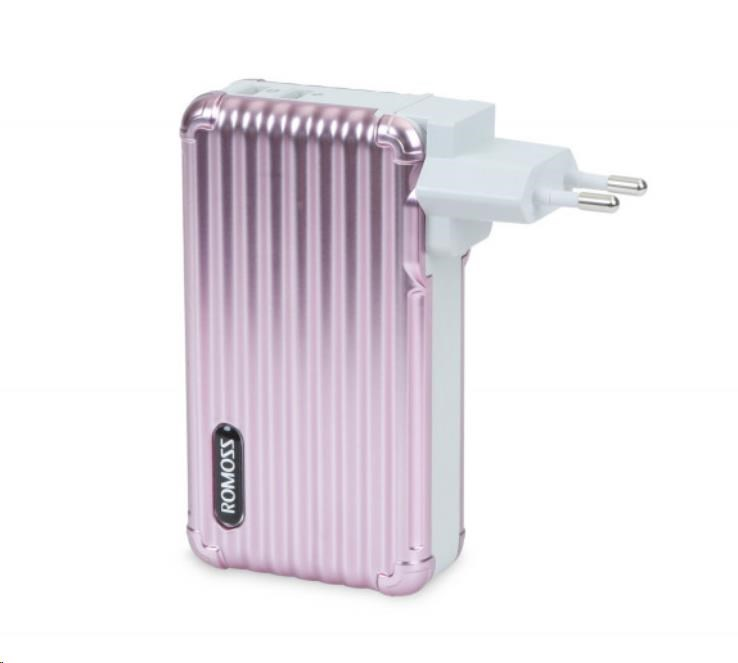 ROMOSS UP10 Rose Gold EU Plug Power Bank Capacity:10000mAh (Cell: Li-polymer) (6951758344509)