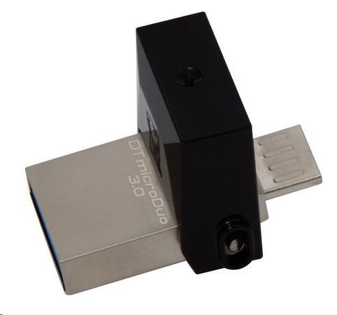 Kingston 32GB DataTraveler microDuo (USB 3.0) - šedý (DTDUO3/32GB)