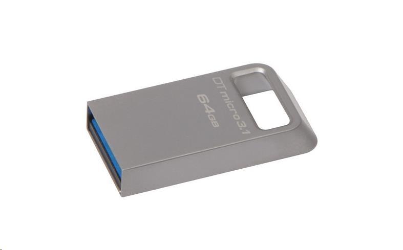 Kingston 64GB USB 3.0 DataTraveler Micro 3.1 - kovový (DTMC3/64GB)