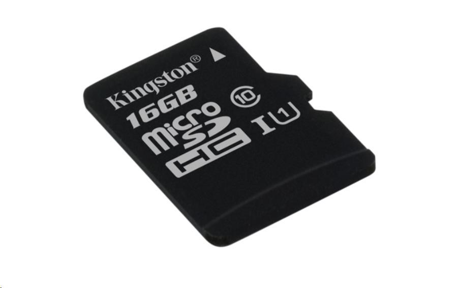 Kingston 16GB Micro SecureDigital (SDHC) Card, Class 10 UHS-I (SDCS/16GBSP)
