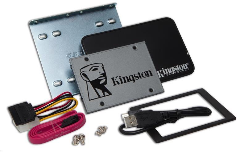 "Kingston 240GB SSDNOW UV500 SATA3 2.5"" Bundle (R 520MB/s; W 500MB/s)"