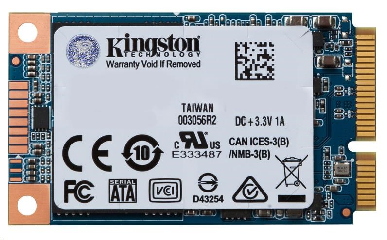 Kingston 120GB SSDNow UV500 mSATA (R 520MB/s; W 320MB/s)
