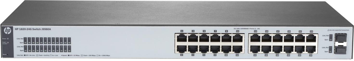 HPE 1820 24G Switch (fanless) (J9980A)