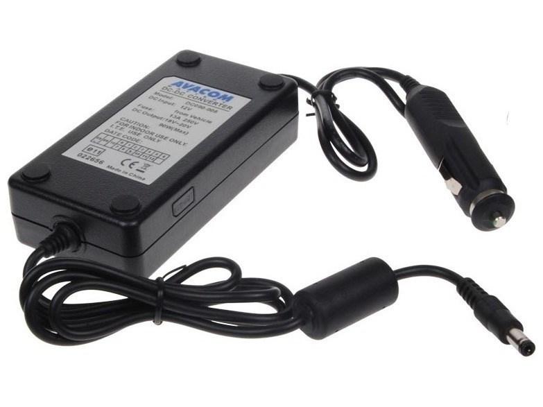 AVACOM nabíjecí autoadaptér pro notebook 18V-20V 90W konektor 5,5mm x 2,5mm (ADDC-19V-90W)