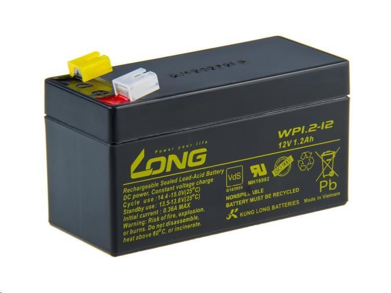 Long 12V 1,2Ah olověný akumulátor F1 (PBLO-12V001,2-F1A)