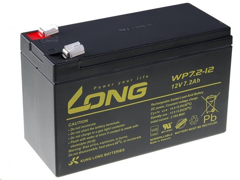 Long 12V 7,2Ah olověný akumulátor F2 (PBLO-12V007,2-F2A)
