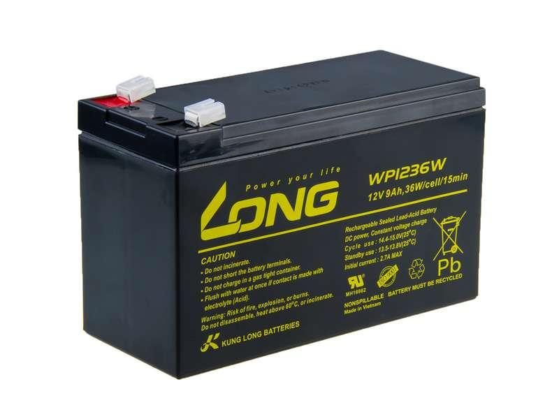 Long 12V 9Ah olověný akumulátor HighRate F2 (PBLO-12V009-F2AH)
