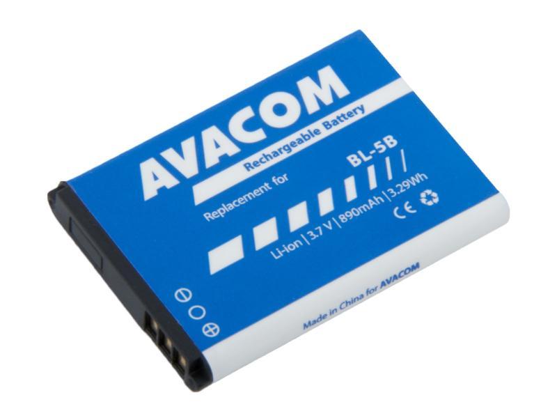 AVACOM baterie do mobilu Nokia 3220, 6070, Li-Ion 3,7V 890mAh (náhrada BL-5B) (GSNO-BL5B-S890)