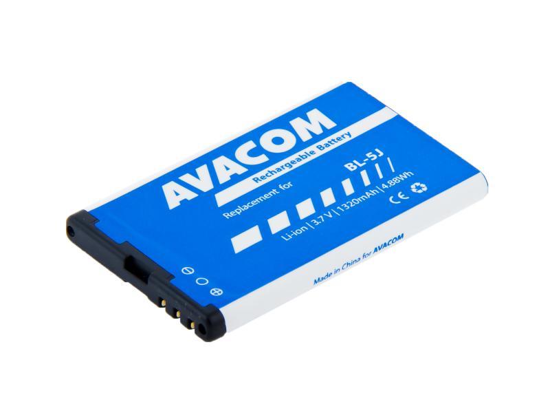 AVACOM baterie do mobilu Nokia 5230, 5800, X6 Li-Ion 3,7V 1320mAh (náhrada BL-5J) (GSNO-BL5J-S1320)