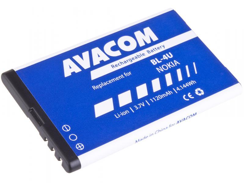 AVACOM baterie do mobilu Nokia 5530, CK300, E66, 5530, E75, 5730, Li-Ion 3,7V 1120mAh (náhrada BL-4U) (GSNO-BL4U-S1120A)
