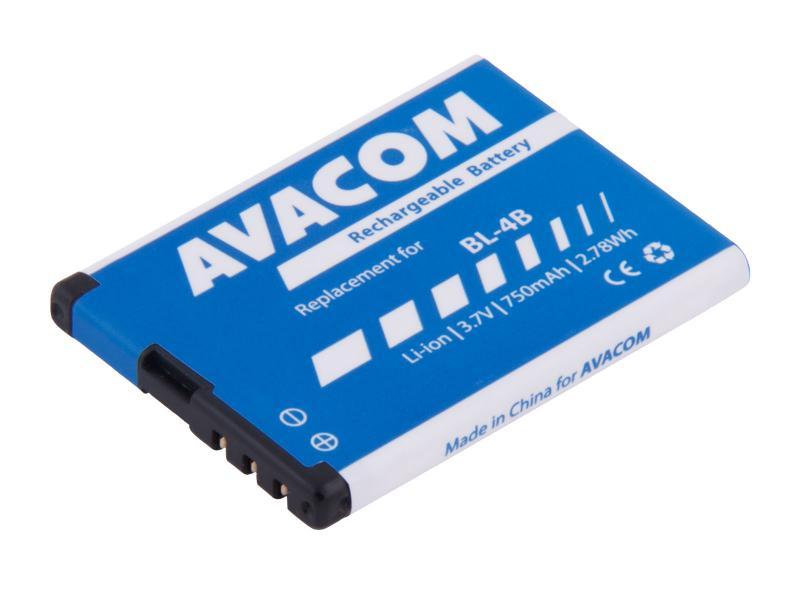 AVACOM baterie do mobilu Nokia 6111 Li-Ion 3,7V 750mAh (náhrada BL-4B) (GSNO-BL4B-S750)