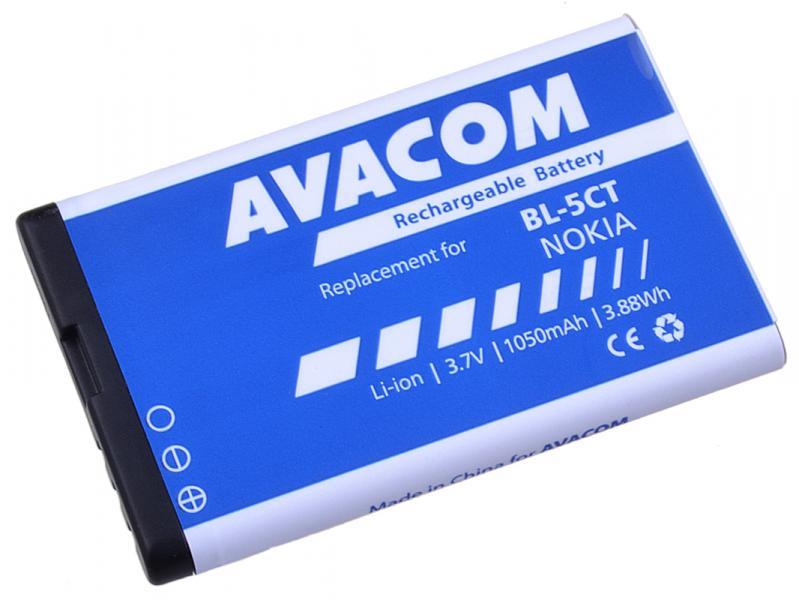 AVACOM baterie do mobilu Nokia 6303, 6730, C5, Li-Ion 3,7V 1050mAh (náhrada BL-5CT) (GSNO-BL5CT-S1050A)
