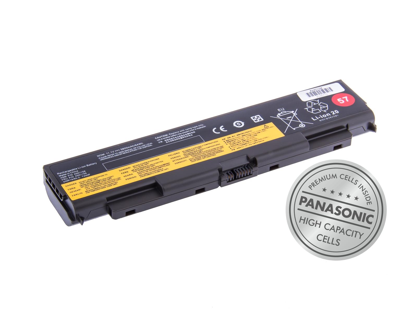 AVACOM baterie pro Lenovo ThinkPad T440P, T540P 57+ Li-Ion 11,1V 5800mAh