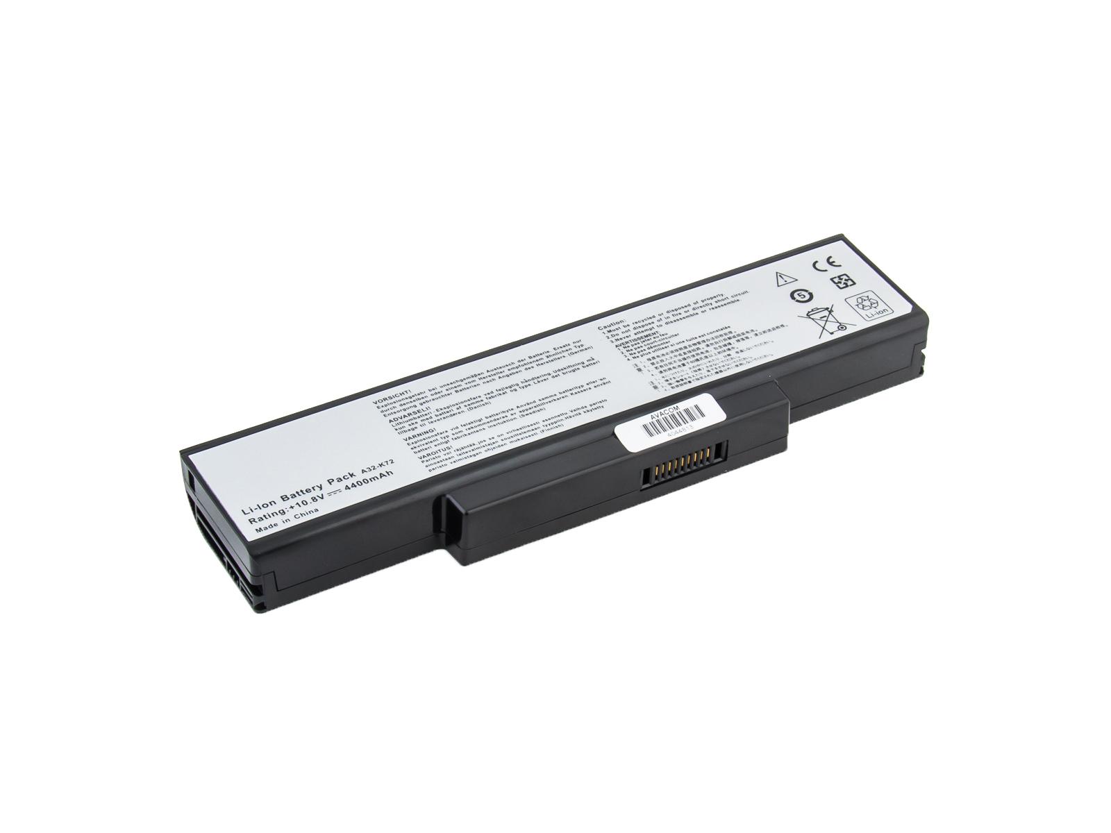 AVACOM baterie pro Asus A72/K72/N71/N73/X77 Li-Ion 11,1V 4400mAh