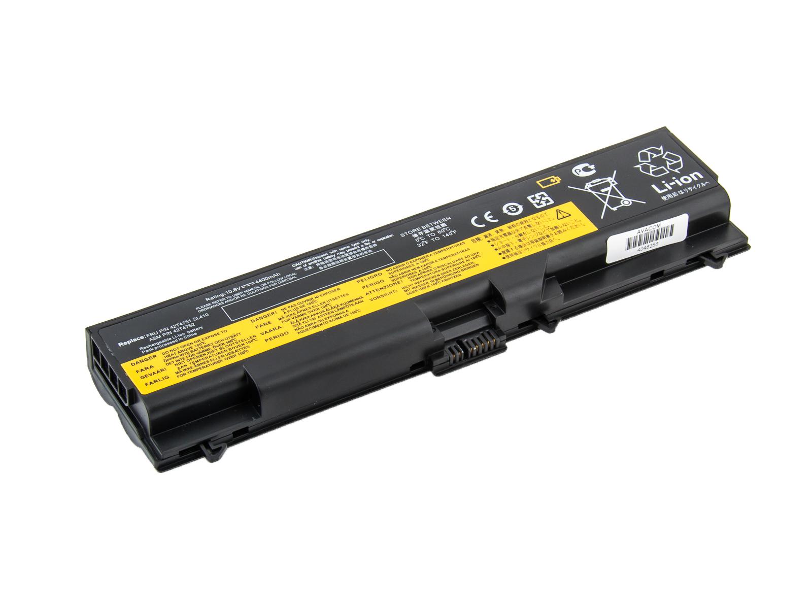 "AVACOM baterie pro Lenovo ThinkPad T410/SL510/Edge 14"", Edge 15"" Li-Ion 10,8V 4400mAh"
