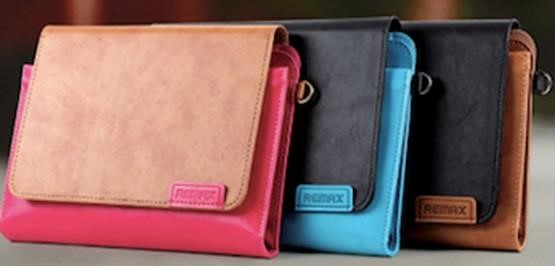 REMAX ochranné pouzdro na iPad Air, iPad mini, retina 2 kožené , elegantní, slouží i jako brašna, hnědá barva (AA-5024)