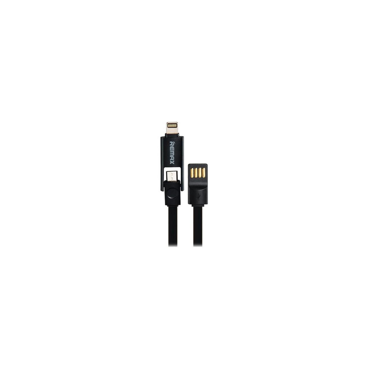 REMAX datový kabel 2 v 1 , Micro USB + lighting iPhon 5/6 1,2 m dlouhý, černá barva Univerzal (AA-1044)
