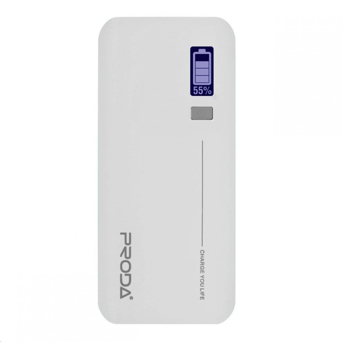 REMAX PowerBank Proda 20000 mAh, LED display, bílá barva EXCLUSIVE (AA-1062)