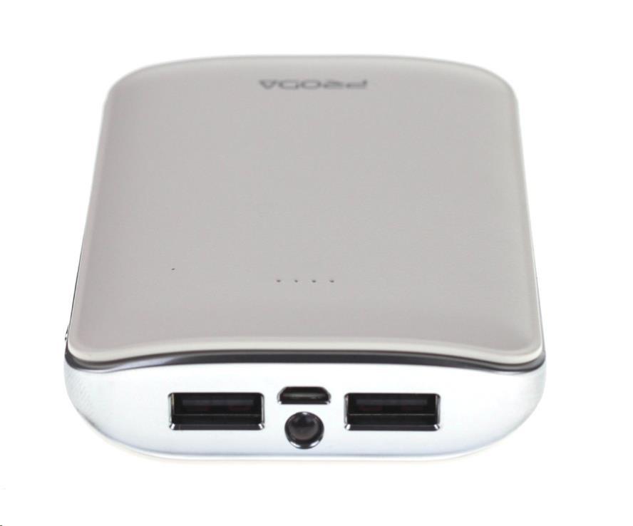 REMAX PowerBank 10000 mAh, MINK, bílá barva (AA-1224)