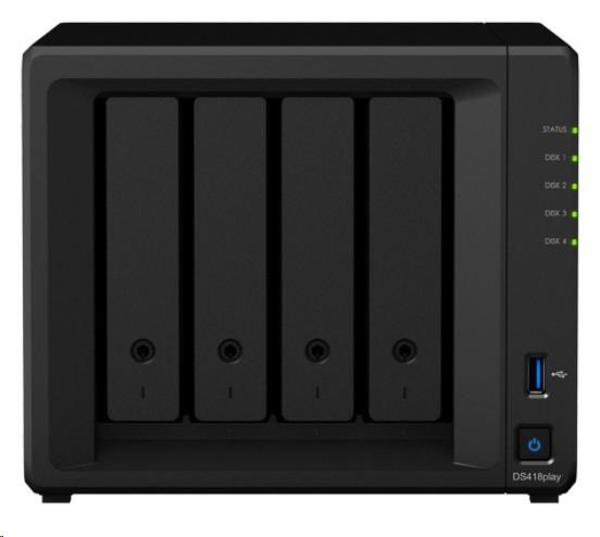 Synology DS418play DiskStation (2,0GHz/2GBRAM/4xSATA/2xGbE)