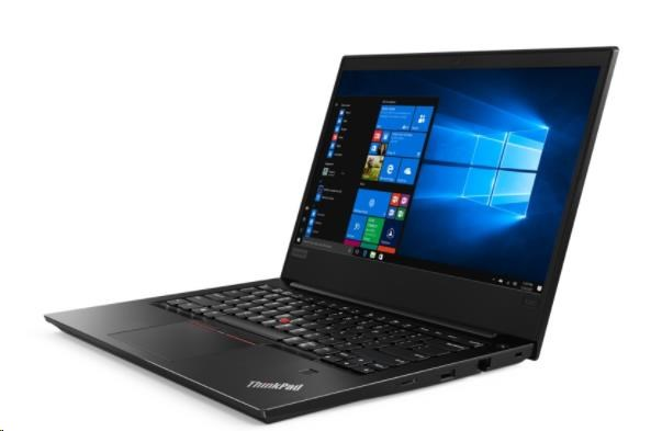 """LENOVO TP E480 černý - i7-8550U@1.8GHz,14""""FHD IPS mat,8GB,256SSD,RX550 2G,HDMI,USB-C,3čl,W10P,1r carry in"""
