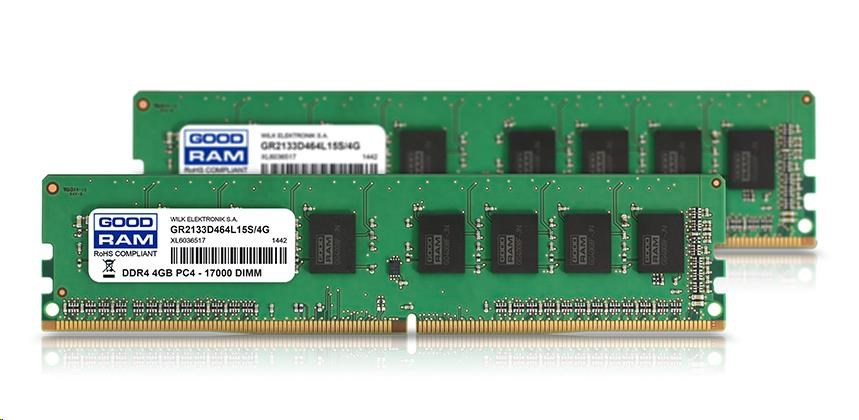 DIMM DDR4 8GB 2133MHz (KIT 2x 4GB) CL15 GOODRAM (GR2133D464L15S/8GDC)