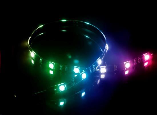 AKASA LED pásek Vegas MB, Molex 12V napájení, 50cm, barevný (AK-LD05-50RB)